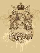 Queen Heladry. Hand drawn illustration.