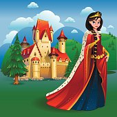 Queen with castle