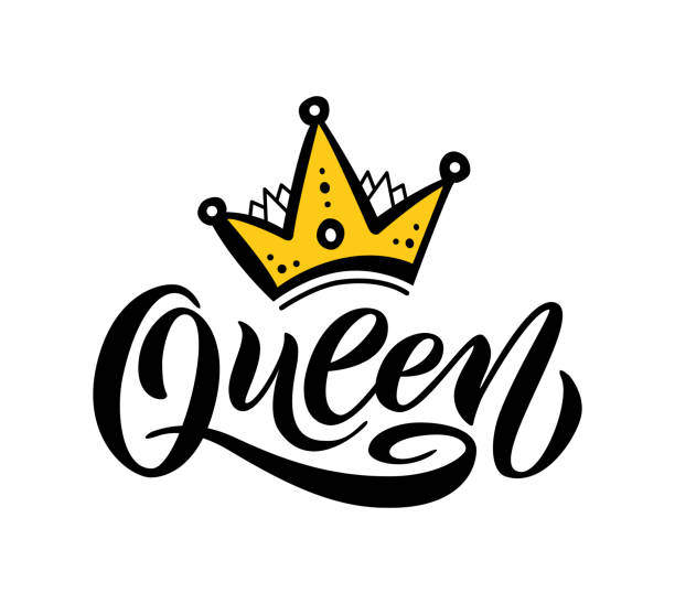 Gold Crown Logo Drawing Illustrations, Royalty-Free Vector