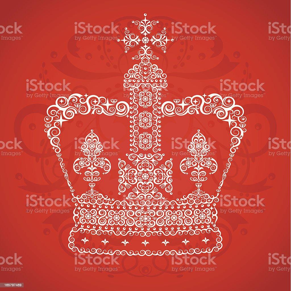 Queen's Crown vector art illustration