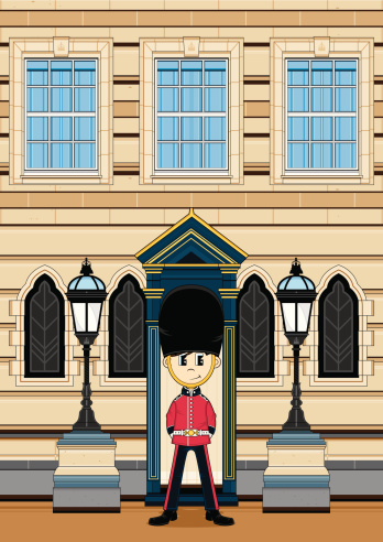 Queens Guard at Palace Gate