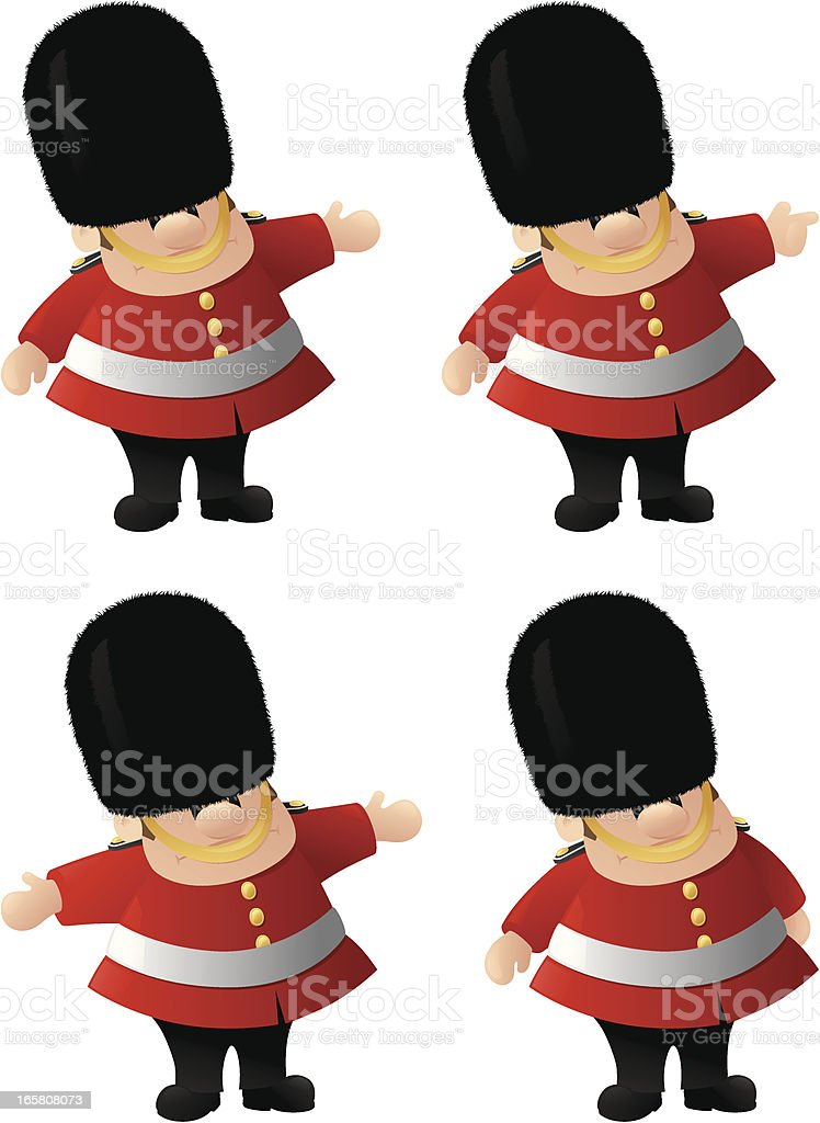 Queen's Guard royalty-free stock vector art
