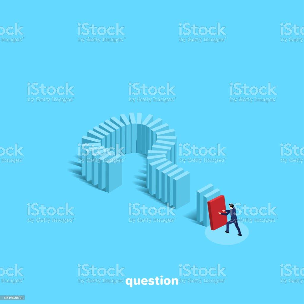 question 4 vector art illustration