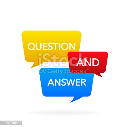 istock Question and Answer Bubble Chat icon. Vector illustration. 1290739324
