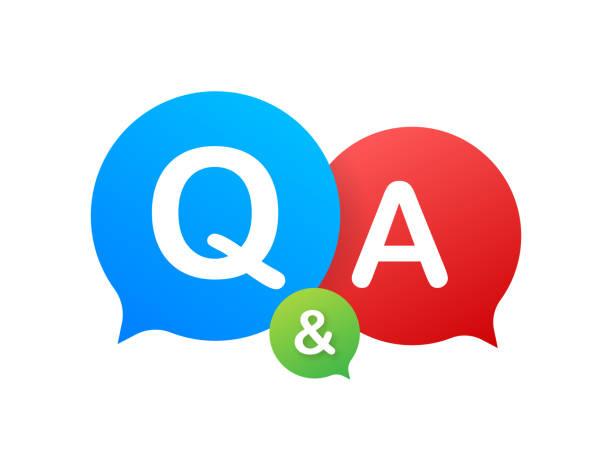 ilustraciones, imágenes clip art, dibujos animados e iconos de stock de pregunta y respuesta bubble chat sobre fondo blanco. ilustración de stock vectorial. - faq
