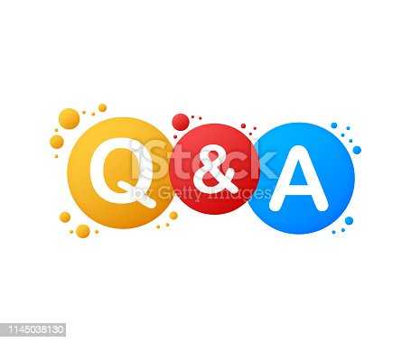 Question and Answer Bubble Chat on white background. Vector stock illustration.