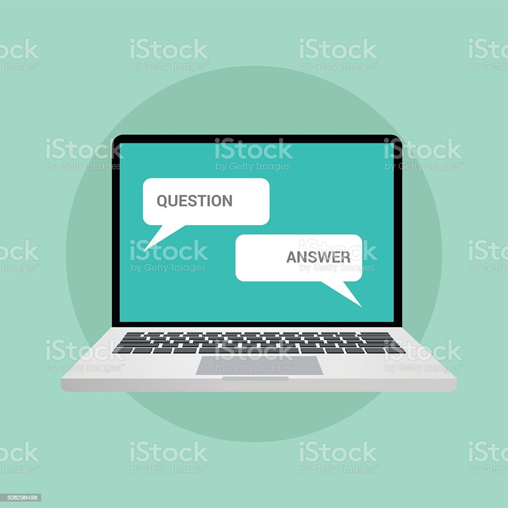 question and answer concept illustration in chat vector art illustration