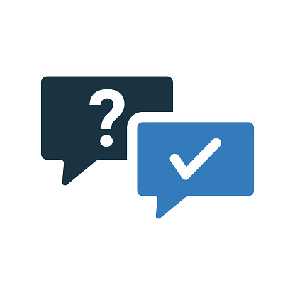 Question and answer icon design