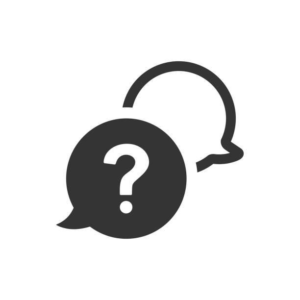 question and answer icon - помощь stock illustrations