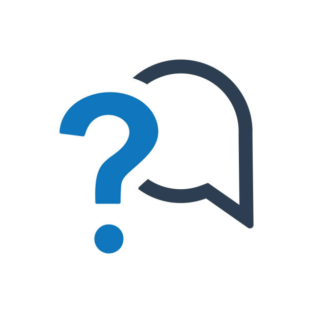Question and answer icon Question and answer icon faq stock illustrations
