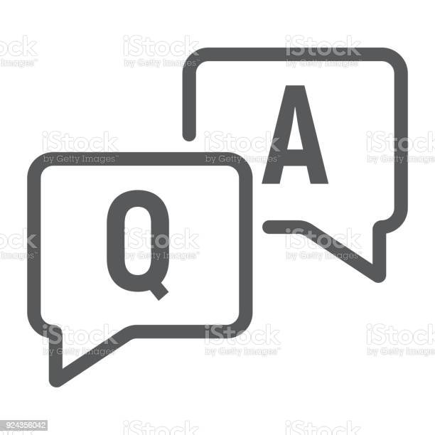 Question and answer line icon e learning and education speech bubble vector id924356042?b=1&k=6&m=924356042&s=612x612&h=jm7urbabfohbwjr6benmgwwpfrb tltivzl5glxca 8=