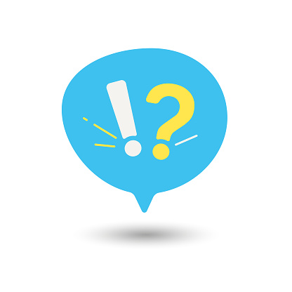 Question and Answer Speech Bubble Icon Flat Design.