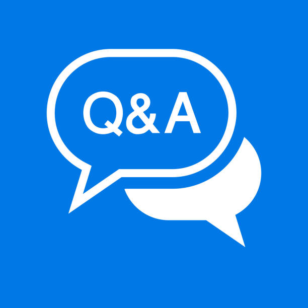 Question and Answer Text Bubble Icon vector art illustration