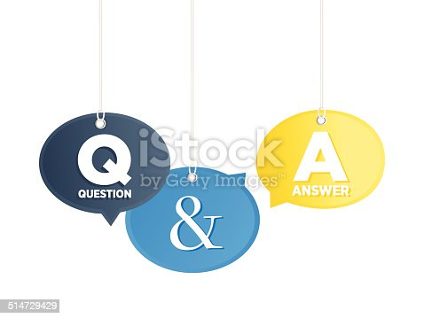 Question & answer concept. Speech bubbles are hanging mid-air.