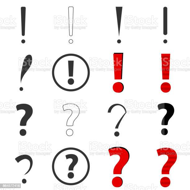 Question and exclamation marks vector id864572416?b=1&k=6&m=864572416&s=612x612&h=3dq8mzbbex ttin6xmxn5uox7gkv8irrmw8rt0fivgo=