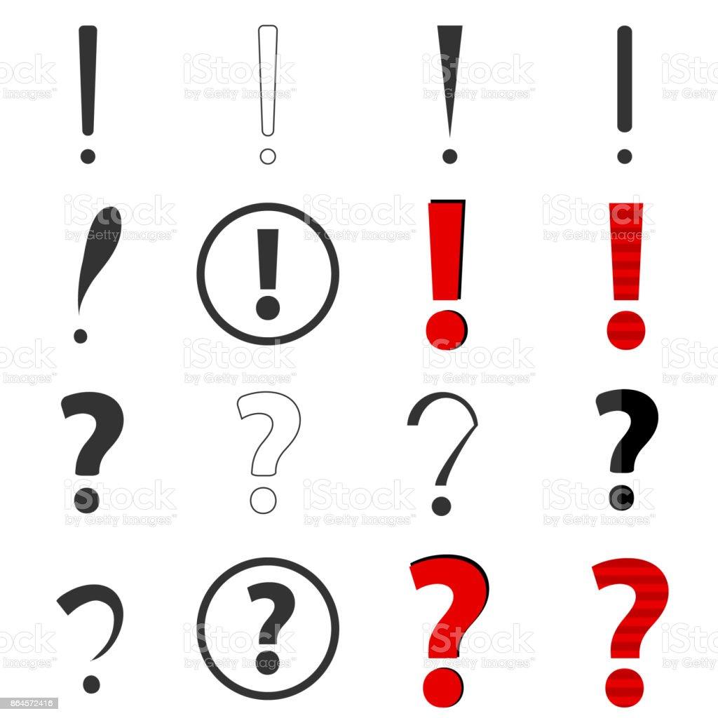 Frage und Antworten marks – Vektorgrafik