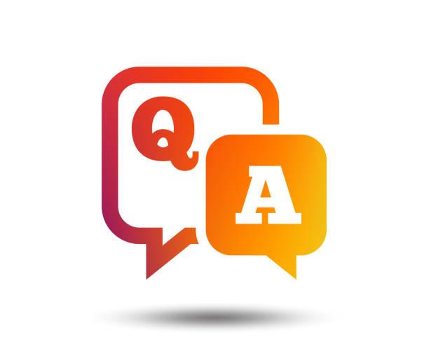 ilustraciones, imágenes clip art, dibujos animados e iconos de stock de icono de signo de pregunta respuesta. q & un símbolo. - faq