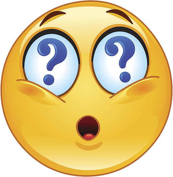 Pregunta emoticono - ilustración de arte vectorial