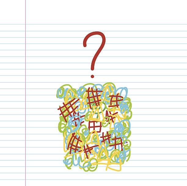 frage hand drawn sketch - grimassen schneiden grafiken stock-grafiken, -clipart, -cartoons und -symbole
