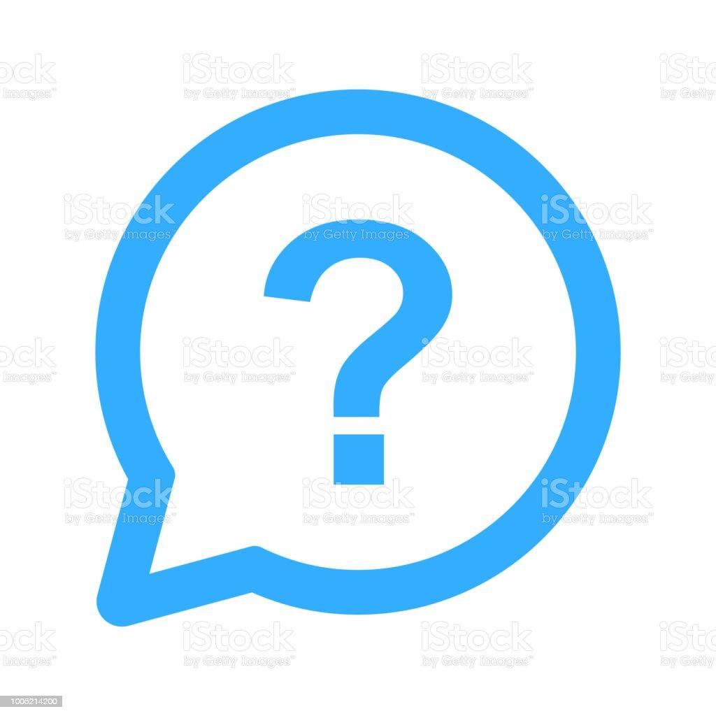 question icon, question mark vector art illustration