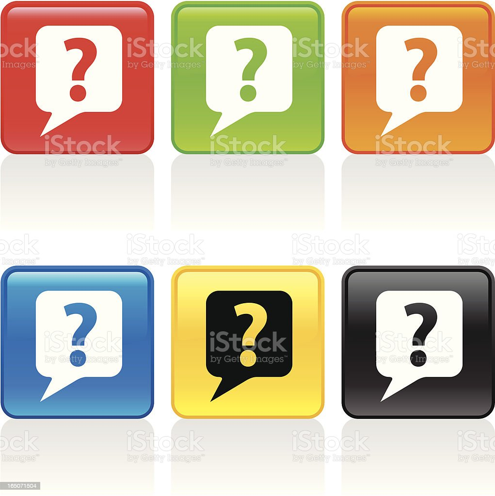 Question Icon royalty-free stock vector art