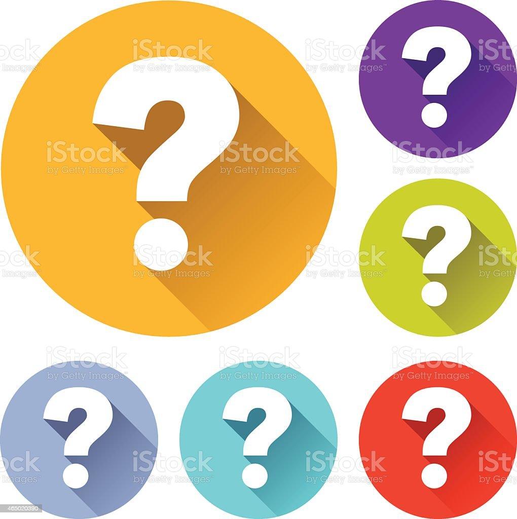 question icons vector art illustration