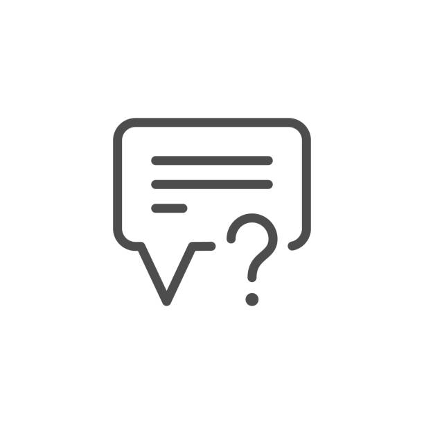 Questions And Answers Illustrations, Royalty-Free Vector
