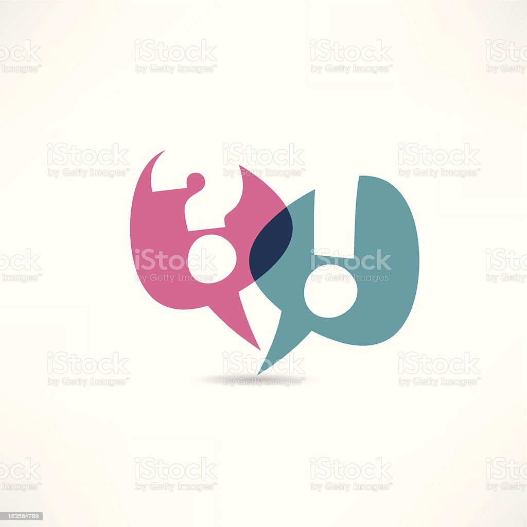 A question mark and an exclamation point icons vector art illustration