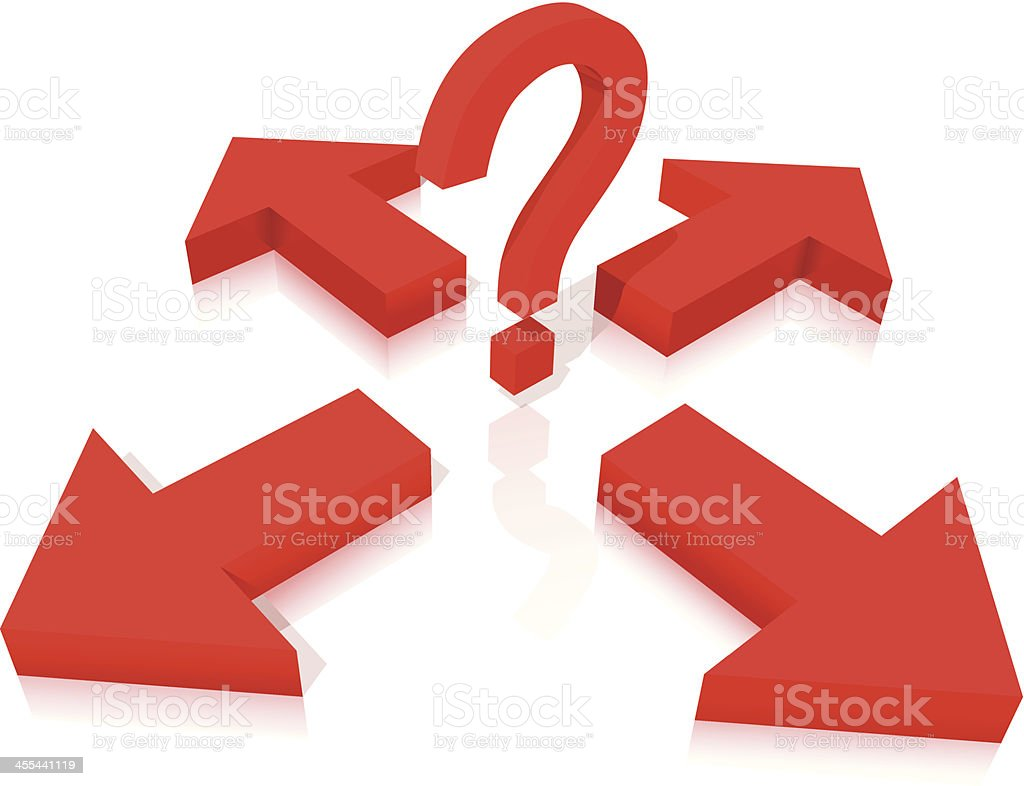 question mark and arrow sign royalty-free stock vector art