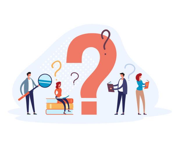 FAQ question mark concept. Vector flat graphic design illustration vector art illustration