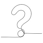 istock Question Mark continuous line one line drawing isolated vector illustration 1319065678