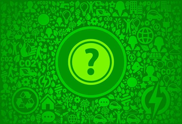 fragezeichen-umgebung grüne symbol vektormuster - altglas stock-grafiken, -clipart, -cartoons und -symbole