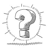 Question Mark Glow Symbol Drawing