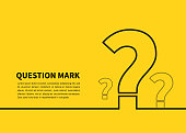 istock Question mark icon on yellow background. FAQ sign. Vector illustration 1212940016