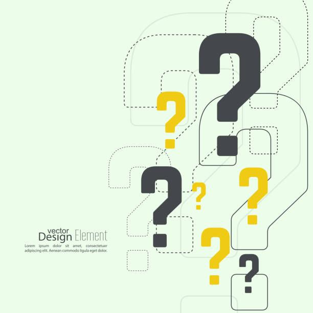 stockillustraties, clipart, cartoons en iconen met question mark icon - question