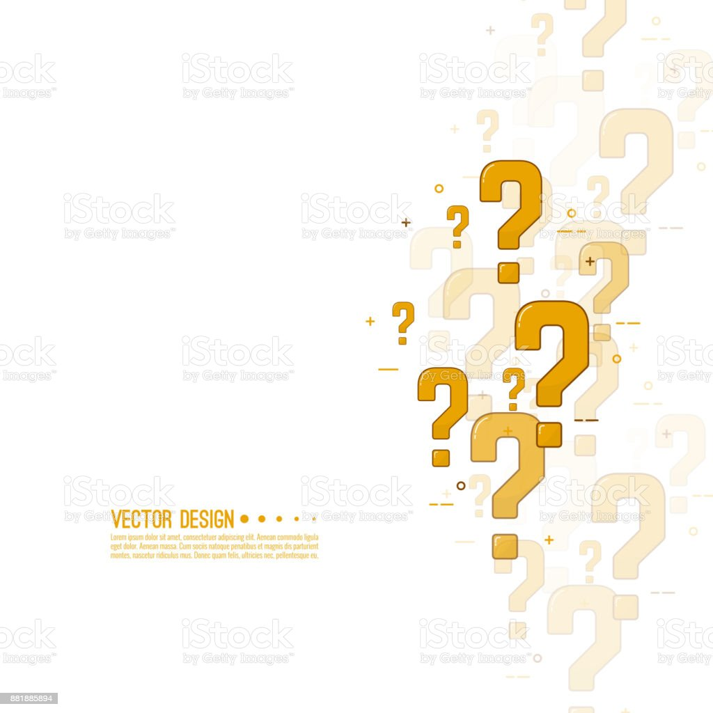Question mark icon. vector art illustration