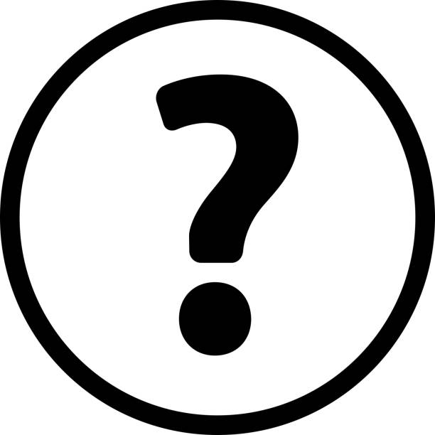 Question Mark Icon with Long Shadow vector art illustration