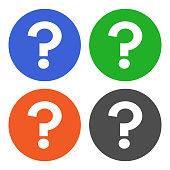 Question mark (FAQ) in circle. Vector icon