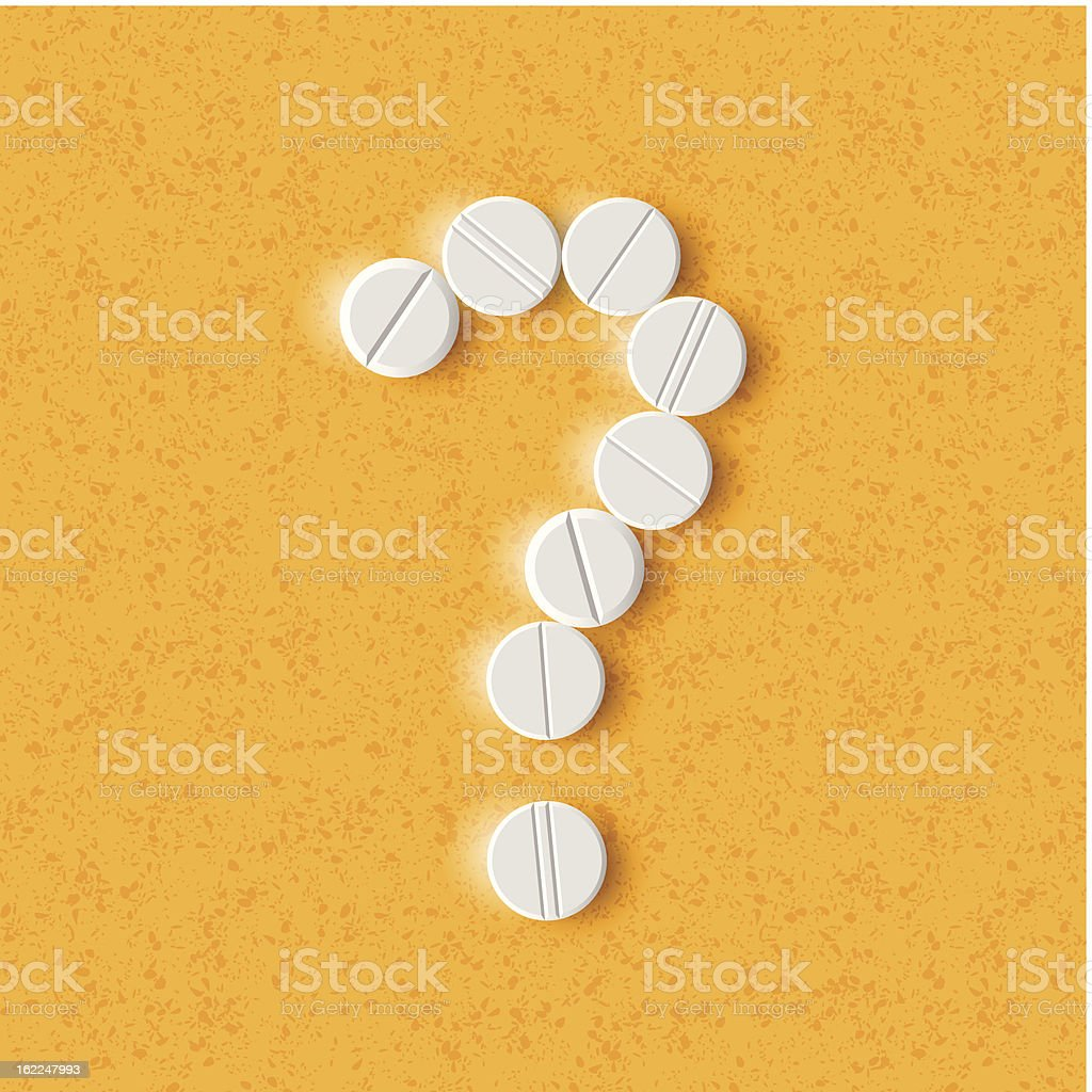 question mark of the pills royalty-free question mark of the pills stock vector art & more images of asking