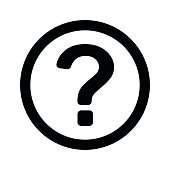 question mark, outline, isolated vector