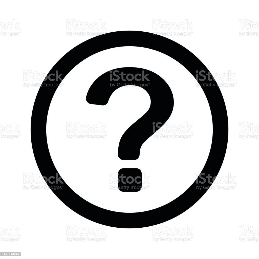 question mark, outline, isolated vector vector art illustration
