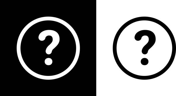 Question Mark Round Icon vector art illustration