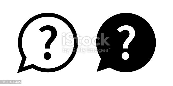 Question mark set of vector isolated icons. Help sign speech bubble. Chat question icon. Question concept. EPS 10