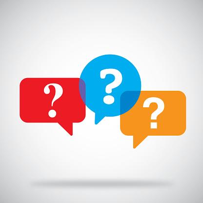 Question Mark Speech Bubbles