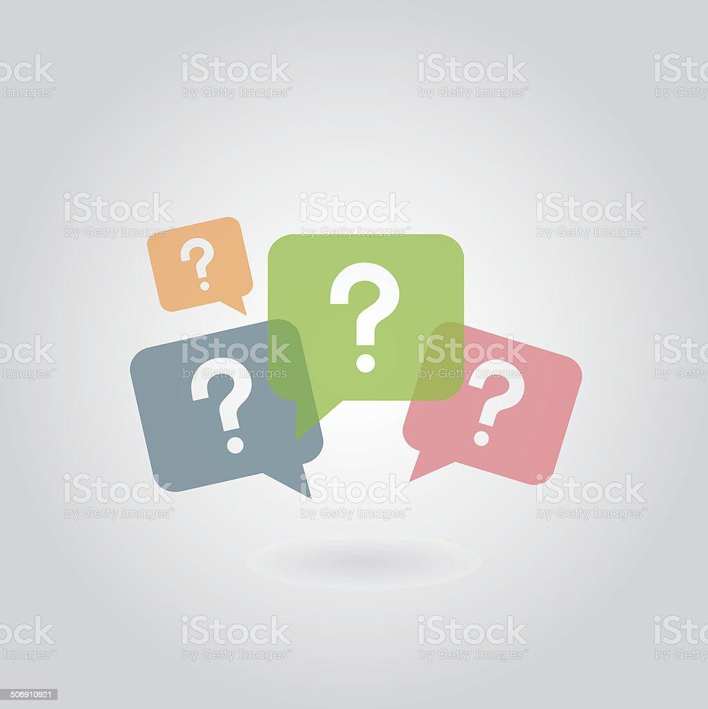 question mark symbol vector art illustration
