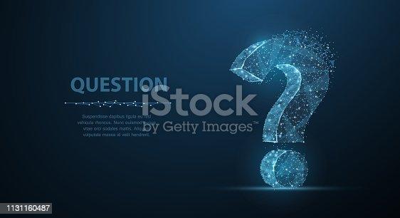 istock Question mark. 1131160487