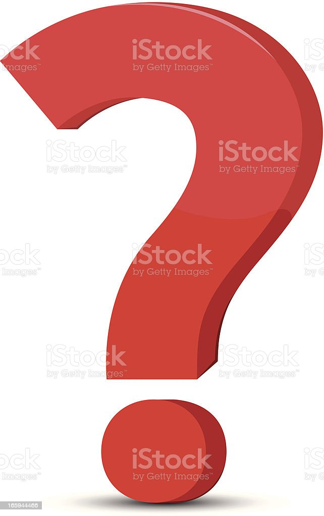Question Mark Stock Illustration - Download Image Now