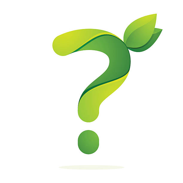 Best Question Mark Icon With Green Leaf Illustrations ...