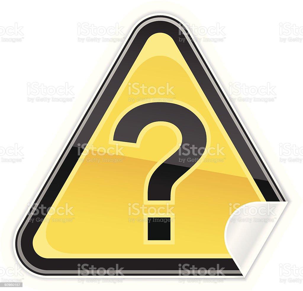 Question sign. 1 credit vector art illustration