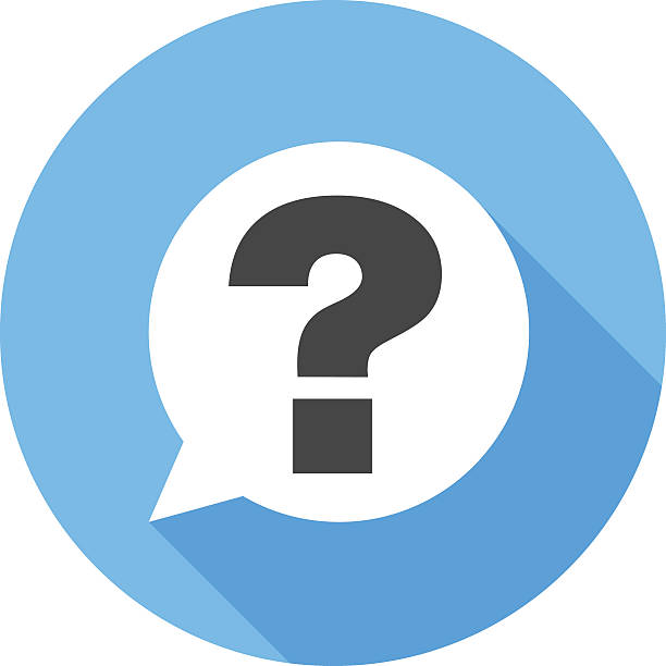 question sign icon. flat design vector icon - ratlos stock-grafiken, -clipart, -cartoons und -symbole